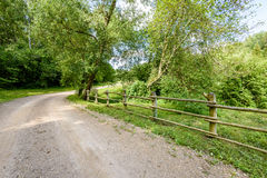 Gravel road in summer countryside. Gravel road in sunny summer countryside with perspective Royalty Free Stock Images