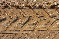 Gravel road surface. Royalty Free Stock Image