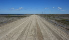 Gravel Road to Cape Norman Royalty Free Stock Photo