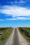 Gravel road to the sky Royalty Free Stock Photos