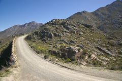 Gravel Road to the Swartberg Pass Stock Photo