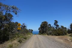 Gravel road to Wreck Beach in the Otway National Park stock photos