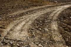 Gravel road track Stock Photo