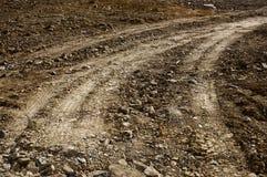 Gravel road track stock photo