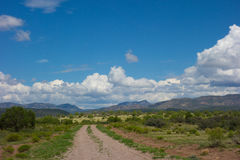 A gravel road in the wilderness Stock Photo
