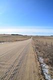 Gravel road in winter Stock Photo