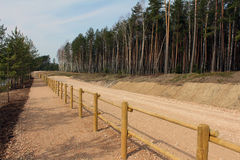 Gravel Road. With wooden fence royalty free stock photos