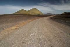 Gravel roads on Iceland Stock Photography