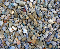 Gravel rocks. Gravel on the ground close up Royalty Free Stock Photos