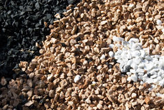 Gravel rocks texture. Rocks elements for Background use - three colors black white and brown Royalty Free Stock Images