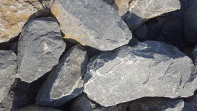 Gravel rough surface texture or pattern with big stones Stock Photography