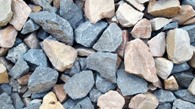 Gravel rough surface texture or pattern with small stones Stock Image