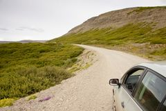 Gravel route - Iceland Royalty Free Stock Image