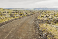 Gravel route to Landmannalaugar - Iceland. Stock Photography