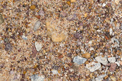 Gravel with sand as background Royalty Free Stock Photography