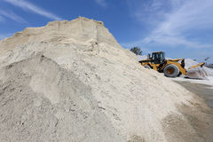 Gravel sand mound Stock Images