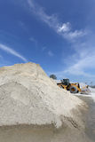 Gravel sand mound. Against blue sky Royalty Free Stock Photography