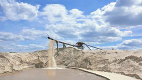 Gravel and sand quarry. Sand washing.  stock video footage