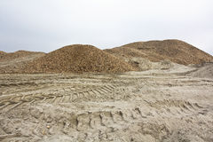 Gravel and sand Royalty Free Stock Images