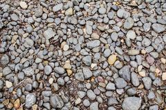 Gravel at Seashore. Gravel at Seahore in various Shades of Grey Stock Photography