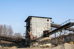 Gravel sorting facility Royalty Free Stock Photos