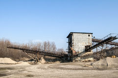 Gravel sorting facility Royalty Free Stock Photo