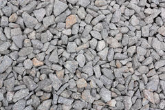 Gravel stone. Abstract texture of a large number of a gray gravel stone Stock Images