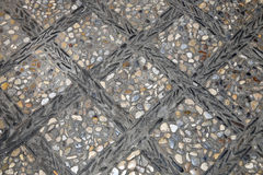 Gravel Stone, Cement Pavement or Pebble Road Street, Background and Textured Royalty Free Stock Photos