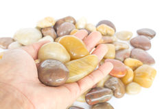 Gravel stone. Screened gravel or river rocks used in home decor Royalty Free Stock Images