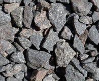 Gravel stone texture. Bluemetal coarse granite gravel texture Royalty Free Stock Photos
