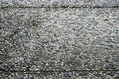 Gravel stone wall Stock Photo