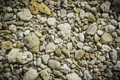 Gravel stones background, texture. At the river Stock Photo