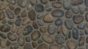 Gravel stones concrete texture background Royalty Free Stock Photography