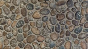 Gravel stones concrete texture background stock image