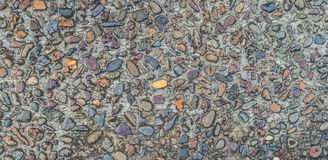 Gravel stones concrete texture colorful background Royalty Free Stock Images