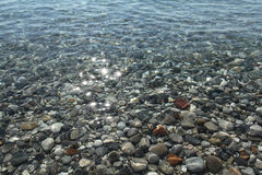 Gravel stones at the sea bottom. Royalty Free Stock Images