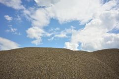 Gravel storage on site Stock Photography