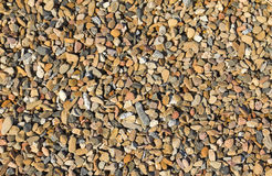 Gravel Texture. Pieces of pepple stones and gravel and other stones at a mining waste tip Royalty Free Stock Photography