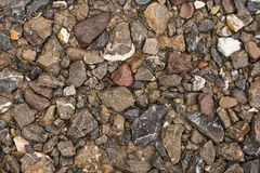 Gravel texture, close up, background use. Royalty Free Stock Photos