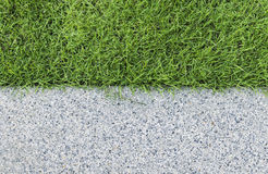 Gravel texture and strip grass Stock Photos