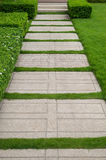 Gravel texture and strip grass Royalty Free Stock Photo