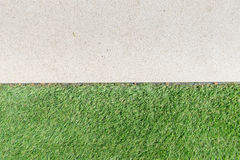 Gravel texture and strip grass Royalty Free Stock Photos