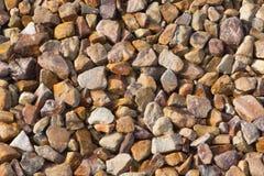 Gravel Texture. Yellow orange sandstone gravel background pattern texture Stock Image