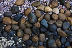 Gravel textures stone for background close up Stock Image