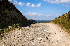 Gravel Track. Blue Sky Derbyshire England Stock Images
