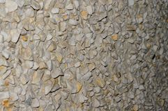 Gravel wall sharp gradient with defocus stock photography