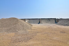 Gravel warehouse Stock Photos