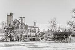 Gravel washing plant for the production of concrete. Royalty Free Stock Image