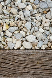 Gravel and wood pavement Stock Photography