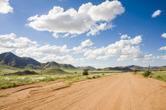 Graveled road in Namibia Stock Photography